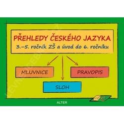 Český jazyk - školní tabulky - Přehledné základy gramatiky