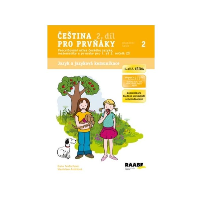Čeština pro prvňáky 2. díl - pracovní sešit 2 pro 1. až 2.ročník