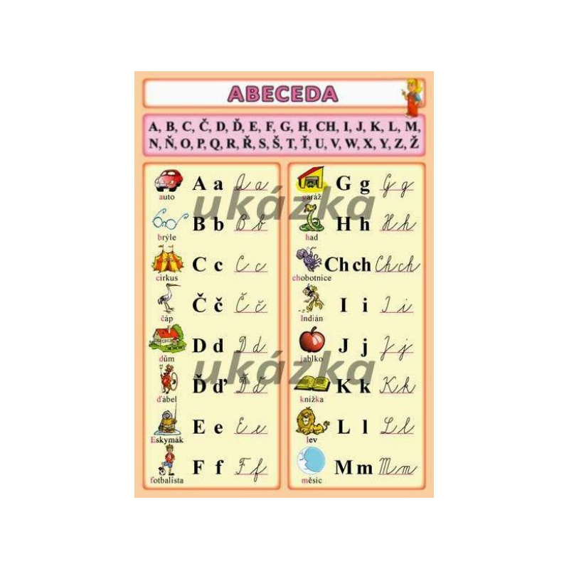 Abeceda (oboustranná tabulka, A5)