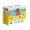 Hra obsahuje: 64 písmen na kartičkách, 32 obrázků na katičkách, 30 ks barevných žetonů, český návod