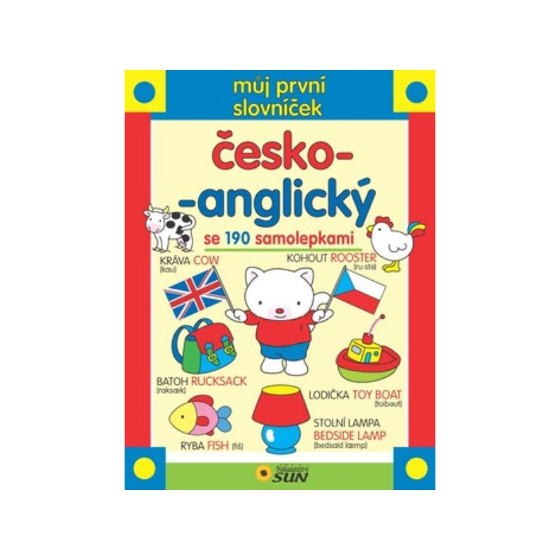 Můj první slovníček česko-anglický se 190 samolepkami